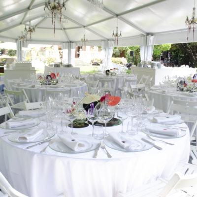 Tensostruttura Villa Umberto tavoli matrimonio