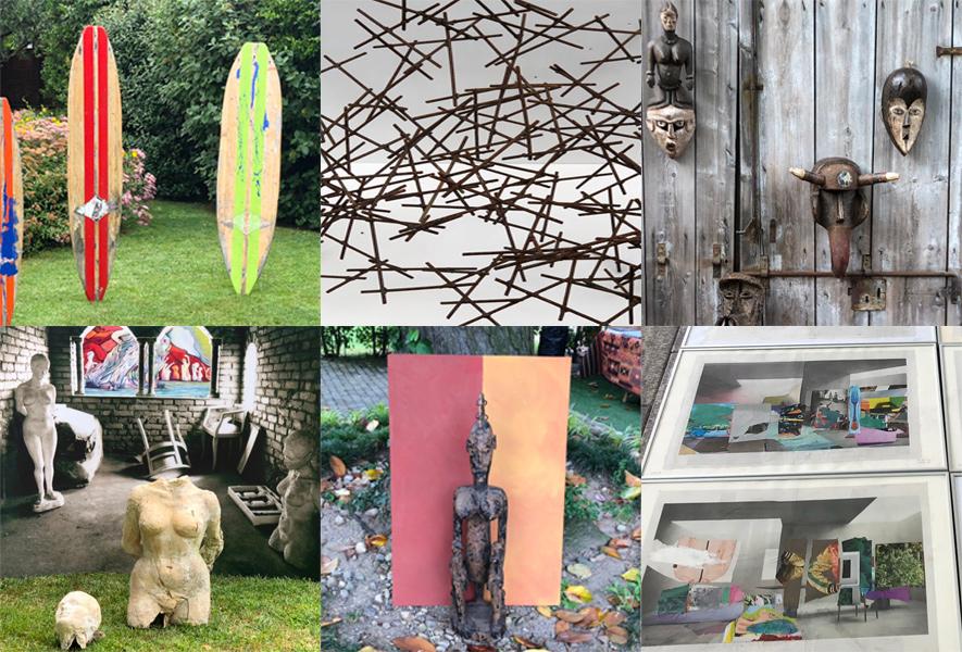 Raccolta immagini di mostra d'arte in Villa Umberto