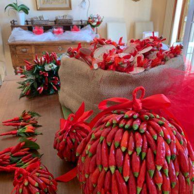 Bouquet peperonicino in Villa Umberto