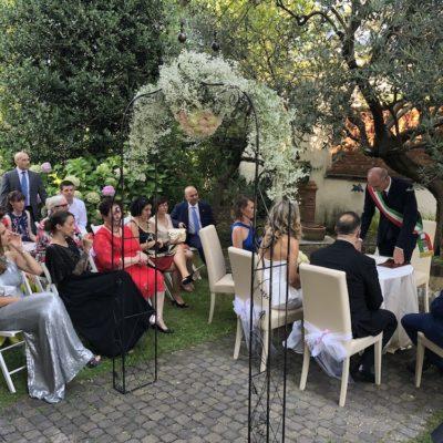 Il momento del si in Villa Umberto