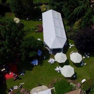 Il giardino di Villa Umberto con il drone